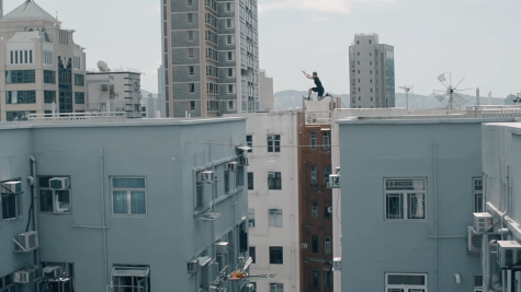 Callum Powell from Storror Parkour in the documentary Roof Culture Asia