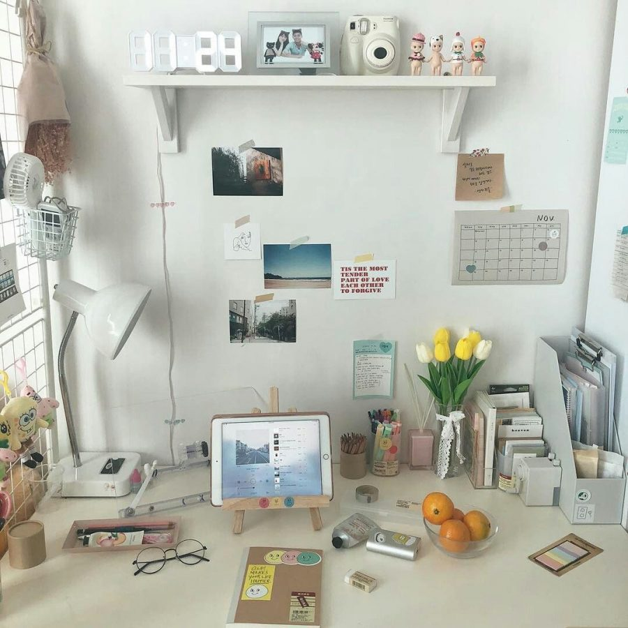 aesthetic-desk-organization