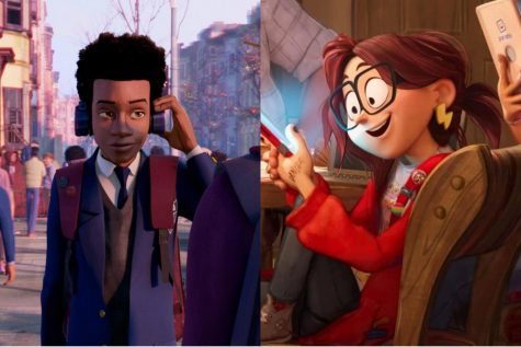 Miles Morales (left) and Katie Mitchell (right)